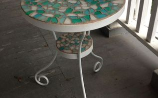patio table makeover, outdoor furniture, painted furniture
