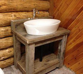 Lovely Reclaimed Wood Bathroom Vanity, Bathroom Ideas, Diy, Painted Furniture,  Rustic Furniture,