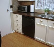 kitchen cabinets updated with moulding, kitchen cabinets, kitchen design