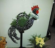 artistic reuse for old tires, crafts, painting, repurposing upcycling, Bird sculpture from a tire