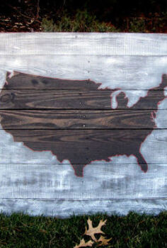 pallet art usa map, crafts, pallet