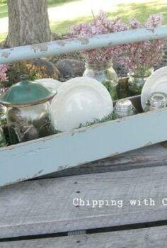 tote to fairy garden centerpiece, flowers, gardening, repurposing upcycling