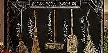 hocus pocus broom co fall inspired chalkboard design, seasonal holiday decor, Hocus Pocus Broom Co