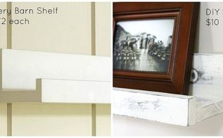 diy pottery barn picture ledge shelves, diy, how to, shelving ideas