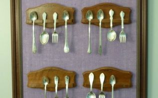 diy baby spoon display, crafts, wall decor, Complete with spoons