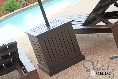 diy outdoor umbrella stand and loungers, decks, outdoor furniture, painted  furniture, patio - DIY Outdoor Umbrella Stand And Loungers Hometalk