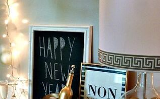 from holiday to new year s eve lamp using a fillable glass lamp, lighting, seasonal holiday decor, Ring in the New Year in style Here are the details on how to achieve this look perfect for the holidays and a great transition into New Year s