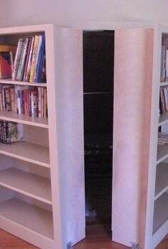 all about the hidden bookcase door, doors, home security, storage ideas, Hidden bookcase door