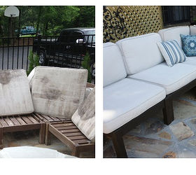 How To Rehab Your Outdoor Furniture And Stained Cushions, Outdoor  Furniture, Outdoor Living,