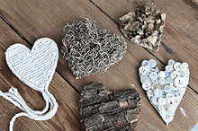 rustic valentines you won t want to take down or give away oops, crafts, valentines day ideas, Glue the materials onto cardboard hearts and watch them come to life See where they all were placed at the blog link