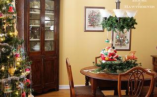 fun retro christmas dining room tour, christmas decorations, seasonal holiday decor