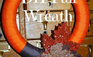 create a fall wreath for porch or front door diy tutorial, crafts, seasonal holiday decor, thanksgiving decorations, wreaths, Use items at hand to create your own fall wreath for a porch or front door decoration