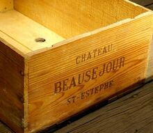 industrial vintage and antique finds a fresh look, repurposing upcycling, Awesome wooden French wine crate or box Makes a great book shelf or base for a nightstand