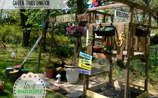 old swing set turned garden, diy, gardening, raised garden beds, repurposing upcycling, woodworking projects