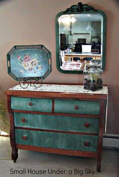 pretty dresser, painted furniture