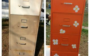 new life for an old filing cabinet, flowers, kitchen cabinets, painted furniture