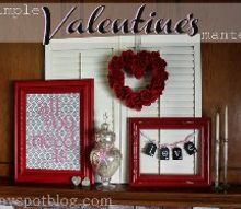 a valentine s day mantel, seasonal holiday d cor, valentines day ideas