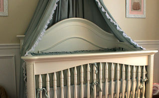 diy bed crown crib canopy tutorial, bedroom ideas, diy, home decor, how to, painted furniture, repurposing upcycling, DIY Bed Crown and Canopy Tutorial