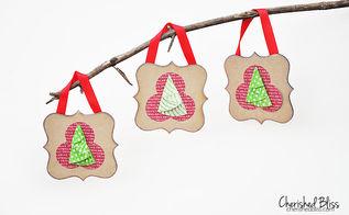 wood plaque handmade christmas ornaments, christmas decorations, crafts, seasonal holiday decor