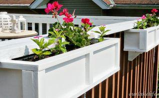 diy project deck planter boxes, diy, gardening, woodworking projects, DIY Project Deck Planter Boxes