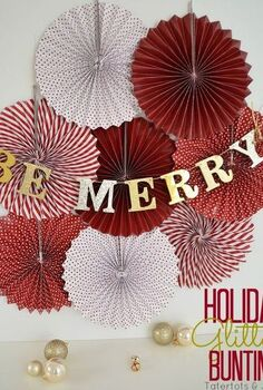 diy glitter letter bunting, crafts, seasonal holiday decor