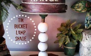 diy tin bucket to lampshade, lighting, repurposing upcycling, Tin Bucket Lamp Shade