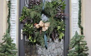 how to make a semi natural evergreen wreath, crafts, gardening, wreaths
