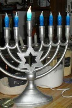 electric hanukkah menorah, crafts, seasonal holiday decor