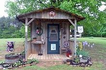 jeannie s his and hers garden sheds, gardening, outdoor living, repurposing upcycling, Hers