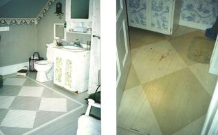 bathroom floors in my 130 year old victorian home, bathroom ideas, flooring, painted floors