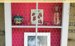 farmhouse cabinet from a repurposed window, kitchen cabinets, repurposing upcycling