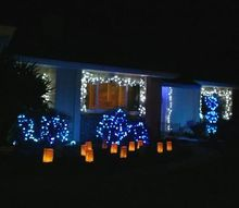 my blue and silver christmas 2012, seasonal holiday d cor, Here we are let the light shine