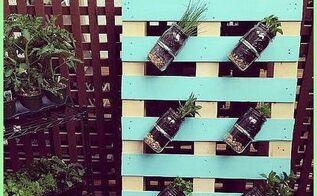 diy pallet mason jar herb garden tutorial, gardening, pallet