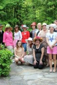 how much fun was the hometalk nc bloggers meetup, Check out all the fun hats