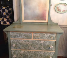 antique dresser makeover, chalk paint, painted furniture