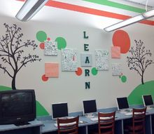 spring creek elementary remodel by kaza design llc, home decor, A mural that now fills a once blank wall
