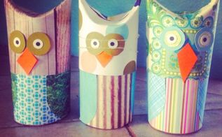 diy toilet paper owls, crafts, seasonal holiday decor