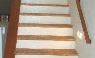 a stair case make over that was easy, diy renovations projects, painting, stairs
