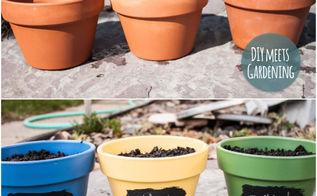 diy eco friendly chalkboard paint herb garden pots, chalkboard paint, crafts, gardening, go green, homesteading, painting