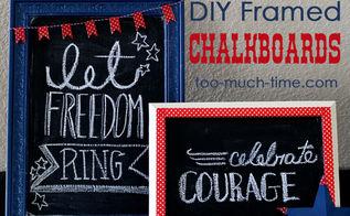patriotic framed chalkboard diy, chalkboard paint, crafts, patriotic decor ideas, seasonal holiday decor