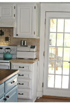 my kitchen on a budget, home decor, kitchen design, kitchen island, I added trim to everything to make it look custom