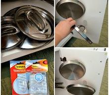 5 effective tips for organizing the kitchen, kitchen design, organizing, Use command hooks to hang pot lids