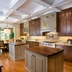 beautiful two tone kitchen, countertops, hardwood floors, kitchen backsplash, kitchen cabinets, kitchen design, kitchen island