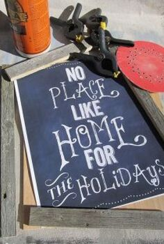 framing chalkboard printables with reclaimed fence, chalkboard paint, crafts, repurposing upcycling, what you ll need