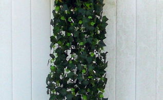 tire planters, gardening, repurposing upcycling, Tire planter mounted to deck wall