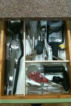 diy kitchen drawer dividers, cleaning tips, storage ideas, After
