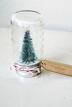 snow globe in vintage bottle, crafts, seasonal holiday decor