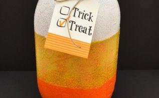 fall candy corn treat jar, crafts, mason jars