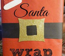 diy wrap it up like santa, christmas decorations, crafts, seasonal holiday decor, Put it all together to equal total cuteness Come visit my blog to see all the details Happy Holidays