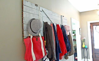 barn door turned coat rack, cleaning tips, doors, repurposing upcycling